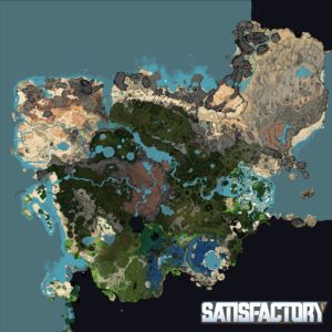 carte de Satisfactory